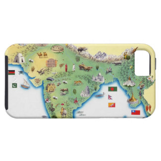 India, map with illustrations showing iPhone 5 covers