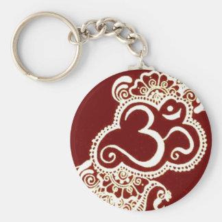 India mehndi red henna key chain