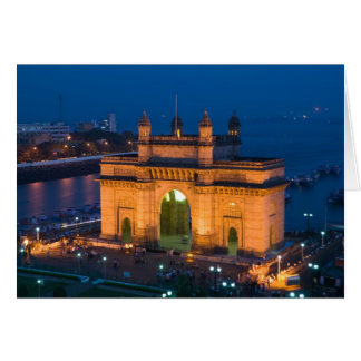 INDIA, Mumbai (Bombay): Gateway of India / Card