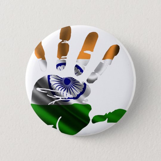 INDIA NICE HAND FLAG PRODUCTS 6 CM ROUND BADGE
