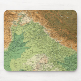 India northwestern section mouse pad