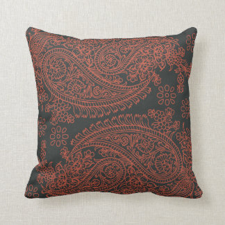 India print paisley pattern cushion