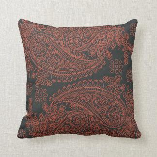 India print paisley pattern throw pillow