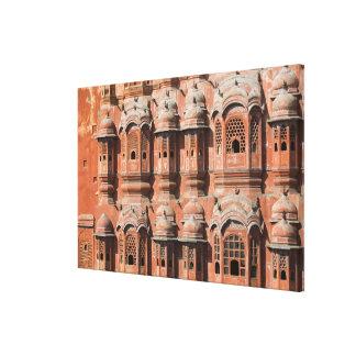 INDIA, Rajasthan, Jaipur: Hawa Mahal (Palace of Canvas Print