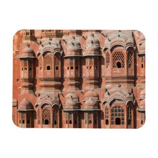 INDIA, Rajasthan, Jaipur: Hawa Mahal (Palace of Rectangular Photo Magnet