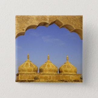 India, Rajasthan, Jaisalmer. Sandstone domes 15 Cm Square Badge