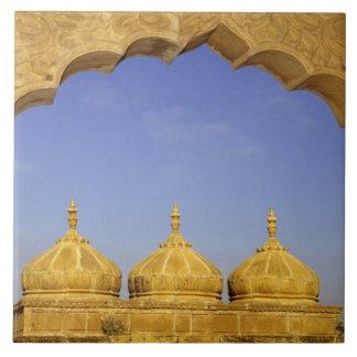 India, Rajasthan, Jaisalmer. Sandstone domes Large Square Tile