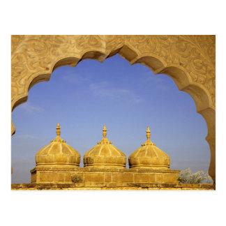 India, Rajasthan, Jaisalmer. Sandstone domes Postcard