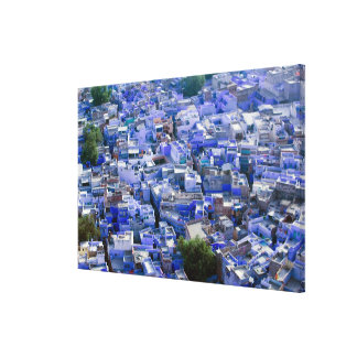 INDIA, Rajasthan, Jodhpur: Blue City of Jodhpur Canvas Print