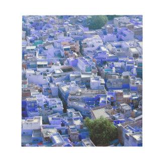 INDIA, Rajasthan, Jodhpur: Blue City of Jodhpur Notepad