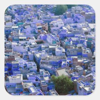 INDIA, Rajasthan, Jodhpur: Blue City of Jodhpur Square Sticker