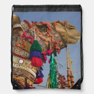 INDIA, Rajasthan, Pushkar: PUSHKAR CAMEL FAIR, Drawstring Bag