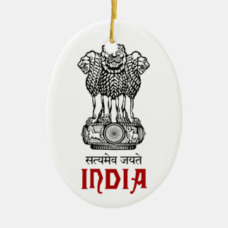 INDIA - seal/emblem/blazon/coat of arms Ceramic Oval Decoration