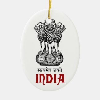 INDIA - seal/emblem/blazon/coat of arms Christmas Ornament