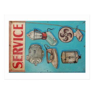 India service shop postcard