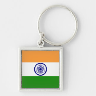 india Silver-Colored square key ring