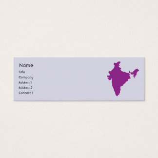 India - Skinny Mini Business Card