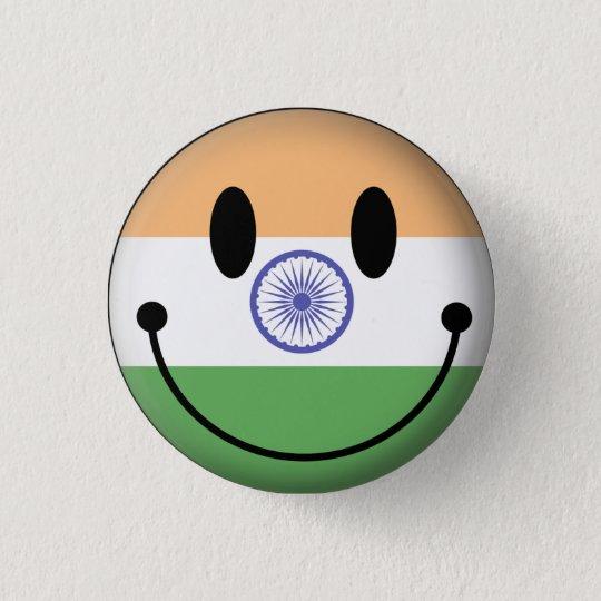India Smiley 3 Cm Round Badge