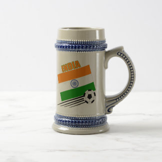 India Soccer Team Beer Steins