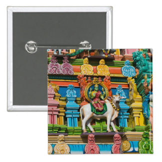INDIA, Tamil Nadu, Chennai: Kapaleeshwarar 15 Cm Square Badge