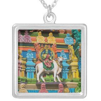 INDIA, Tamil Nadu, Chennai: Kapaleeshwarar Silver Plated Necklace