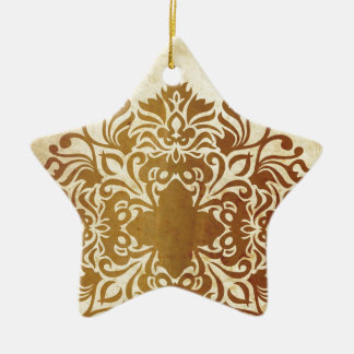 India Tea & Leaf Ceramic Star Decoration