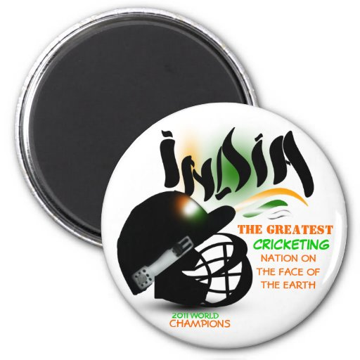 India The Greatest Cricket Nation on Earth Magnet