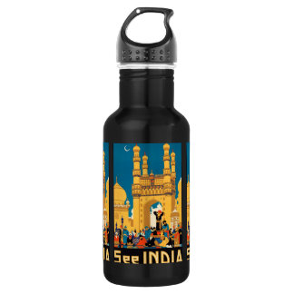India Travel Poster 532 Ml Water Bottle