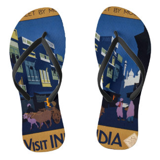 India Travel Poster art sandals