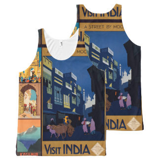 India Travel Poster collage art tanktop All-Over Print Tank Top