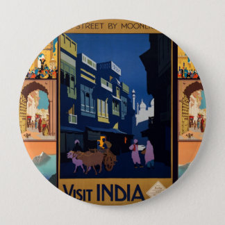 India Travel Poster collage button