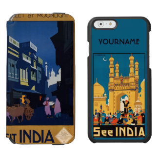 India Travel Poster collage custom wallet cases Incipio Watson™ iPhone 6 Wallet Case