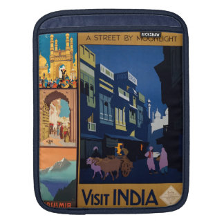 India Travel Poster collage iPad sleeve
