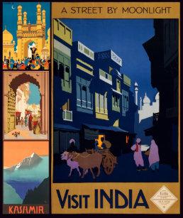 India Vintage Travel Postcards | Zazzle UK