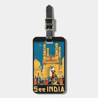 India Travel Poster custom luggage tag