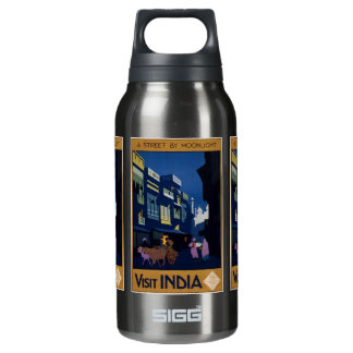 India Travel Poster Insulated Water Bottle