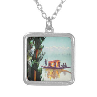 India Travel Poster necklace