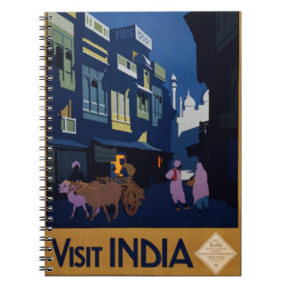 India Travel Poster notebook