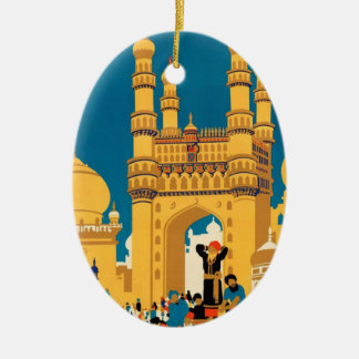 India Travel Poster ornament