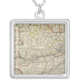 India VI Silver Plated Necklace