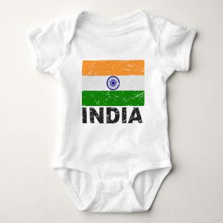 India Vintage Flag Baby Bodysuit
