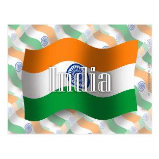 India Waving Flag Postcard