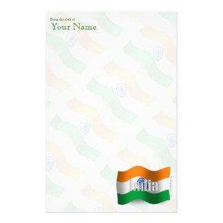 India Waving Flag Customized Stationery
