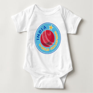 india world champions cricket ball baby bodysuit