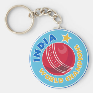 india world champions cricket ball basic round button key ring