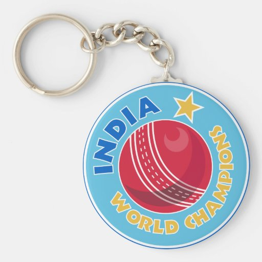 india world champions cricket ball key chain