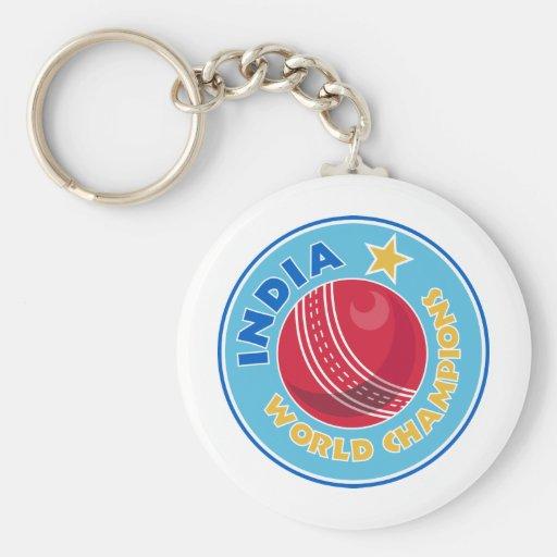 india world champions cricket ball key chains