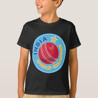 india world champions cricket ball T-Shirt