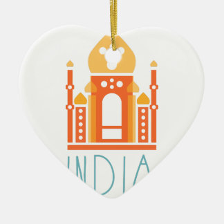 India yoga christmas ornament
