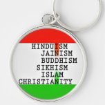 Indian (all religions) Large Premium Keychain